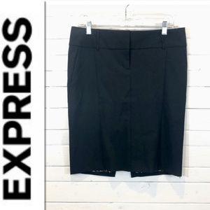 Express Black Skirt w/ Leopard Print Lining - 8